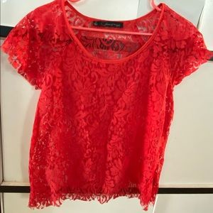 Patterson J. Kincaid Red Lace Shirt